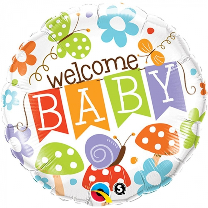 Balon Folie Welcome Baby 45 cm 1 buc DB25210 0