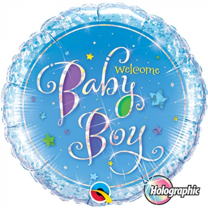 Balon Folie Welcome Baby Boy 45 cm 1 buc DB35312 [0]
