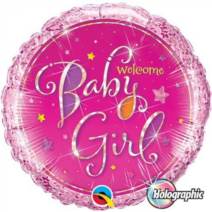 Balon Folie Welcome Baby Girl 45 cm 1 buc DB35316 0
