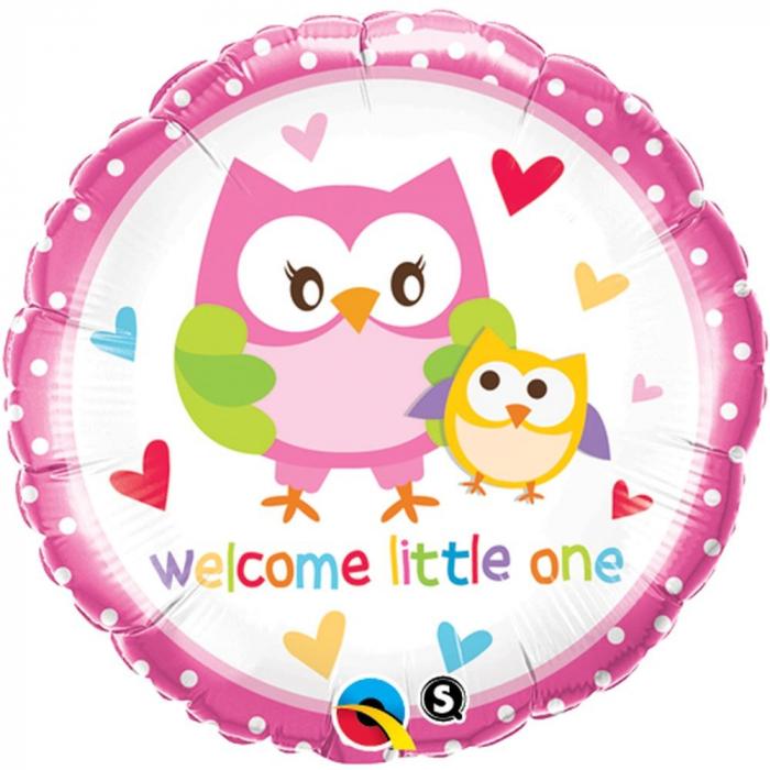 Balon Folie Welcome Little One Bufnita 45 cm 1 buc DB18436 0