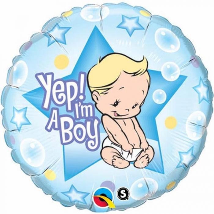 Balon Folie Yep I`m A Boy 45 cm 1 buc DB86885 0