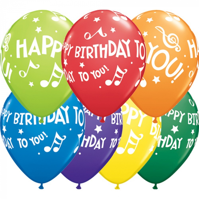 Balon Latex personalizat Happy Birthday To You Music Notes Asortate 1 buc 30cm DB18461 0