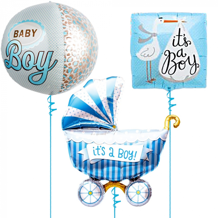 Buchet baloane folie baby boy 43/46/102cm DBB01240 [0]