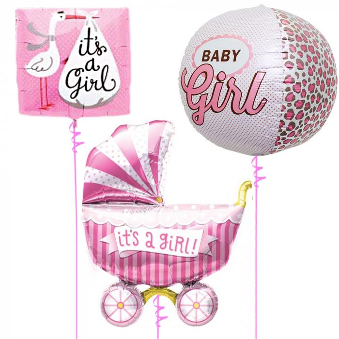 Buchet baloane folie baby girl 43/46/102cm DBB01241 0