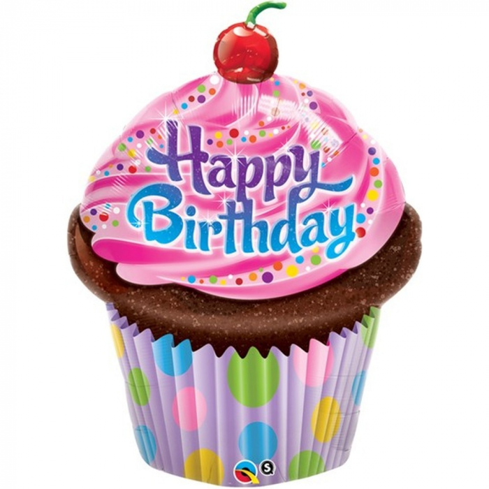 Folie Figurina Prajitura Happy Birthday 89 cm 1 buc DB30683 0