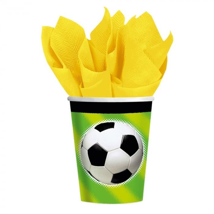 Pahare Carton Championship Soccer Pentru Petrecere Copii 266 ml Set 8 buc DB587040 0