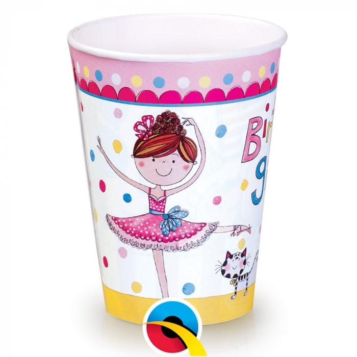 Pahare Carton Happy Birthday Pentru Petrecere Copii 250 ml set 8 buc DB50887 0