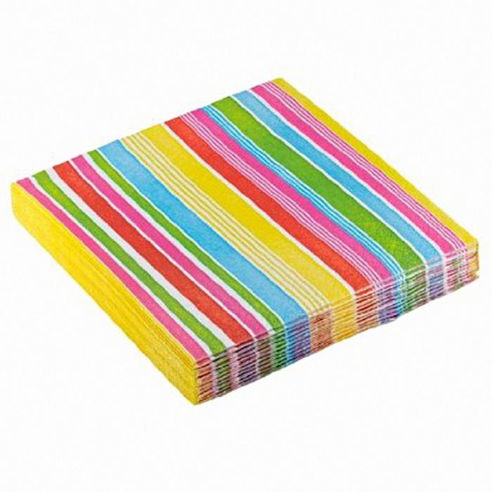 Servetele De Masa Cu Dungi Multicolore 33 cm set 20 buc DBrm551880 [0]