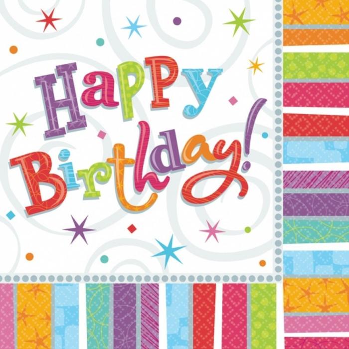 Servetele Pentru Petrecere Happy Birthday 33x33 cm set 16 buc DB509980 0