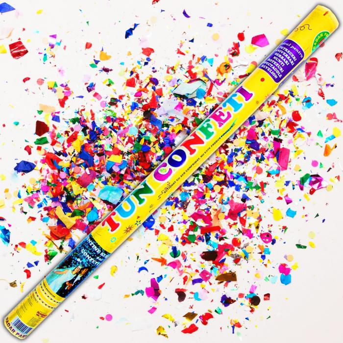 Tun de confeti 100 cm multicolore, DB.TUN.82100.M, 1 buc 0