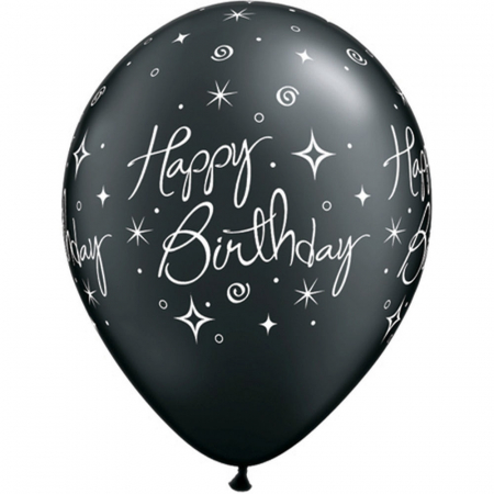"Baloane latex 11"" inscriptionate Birthday Elegant Sparkles & Swirls Asortate,  DB252352"