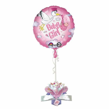 Balon Folie Baby Girl Cu Decor 3D 45 cm 1 buc DB271871