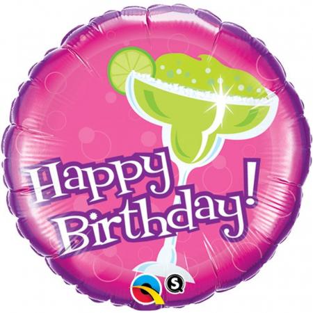 Balon Folie Happy Birthday Cocktail 45 cm 1 buc DB333311