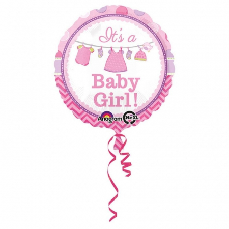Balon Folie It`s a Baby Girl 45 cm 1 buc DB309094