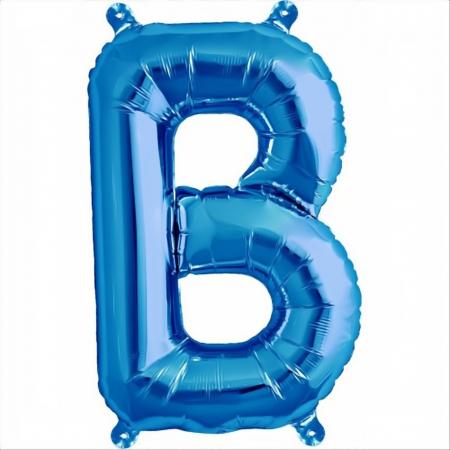 Litera Albastra Foil Balloons 1 buc 41 cm DBNB005312