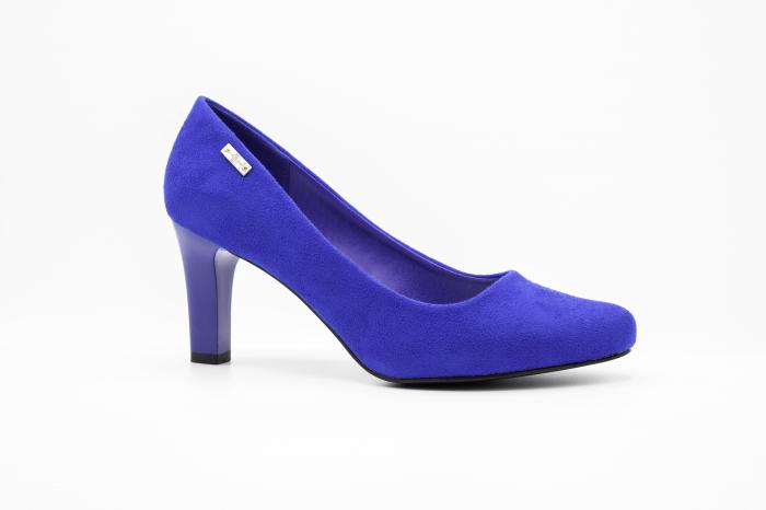 Pantofi office din piele intoarsa BLUE [0]