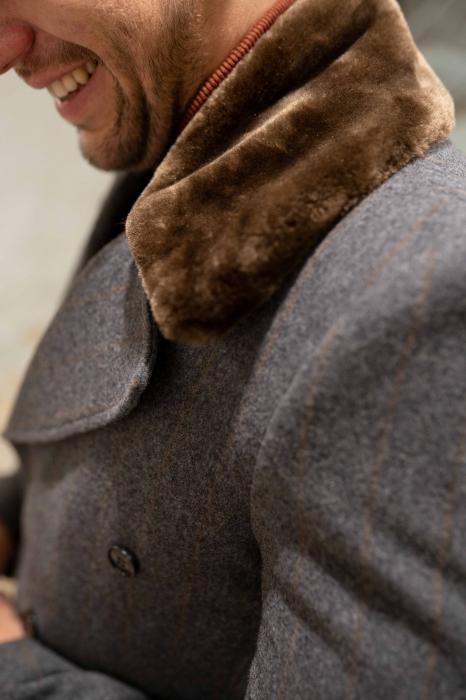 Palton POLIMPIER cu guler din blana artificiala 2