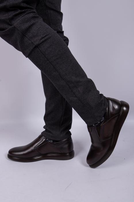Pantofi BROWN de barbati din piele 2