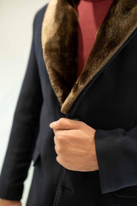 Palton MATEO cu guler din blana artificiala 2