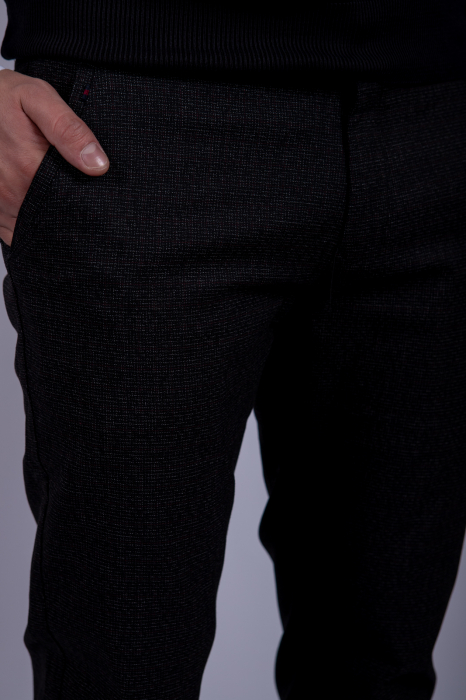 Pantaloni DARK GRAY casual de barbati 3