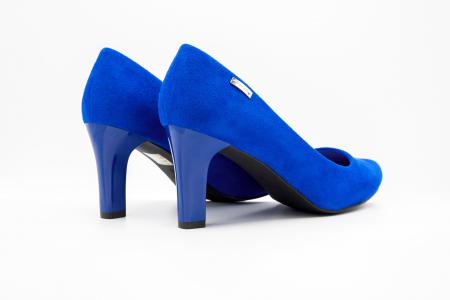 Pantofi office din piele intoarsa BLUE [2]