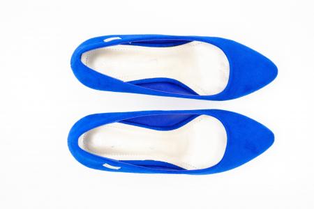 Pantofi office din piele intoarsa BLUE [3]