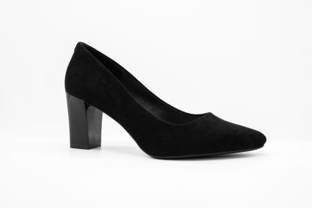 Pantofi office din piele intoarsa BLACK [0]