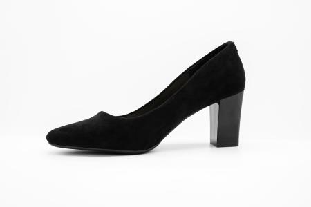 Pantofi office din piele intoarsa BLACK [1]
