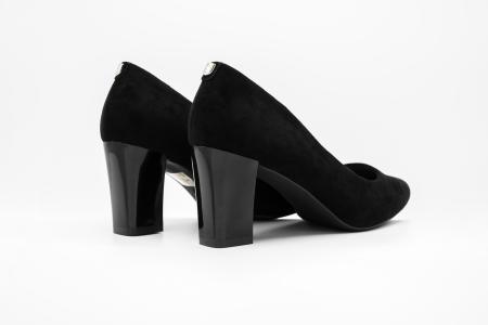 Pantofi office din piele intoarsa BLACK [2]