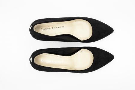 Pantofi office din piele intoarsa BLACK [3]