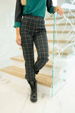 Pantaloni DOLLY de dama cadrilati0