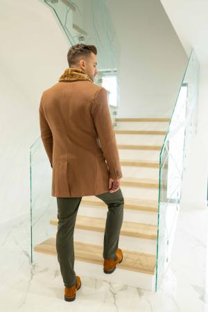 Palton LIAM cu guler din blana artificiala3