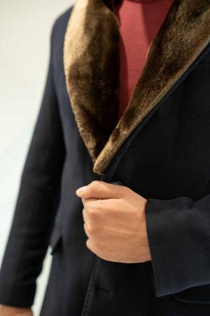 Palton MATEO cu guler din blana artificiala2