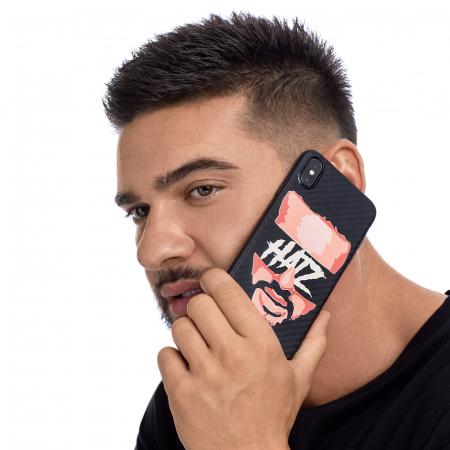 Husa telefon Hatz Face Negru Carbon1