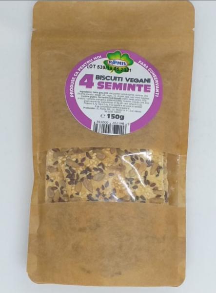 Biscuiti vegani 4 seminte, 150 gr 0