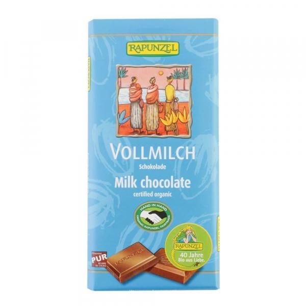 Ciocolata din lapte integral, bio, 100g 0