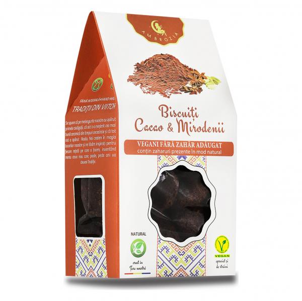 Biscuiți Vegani Cacao & Mirodenii – 150 g 0