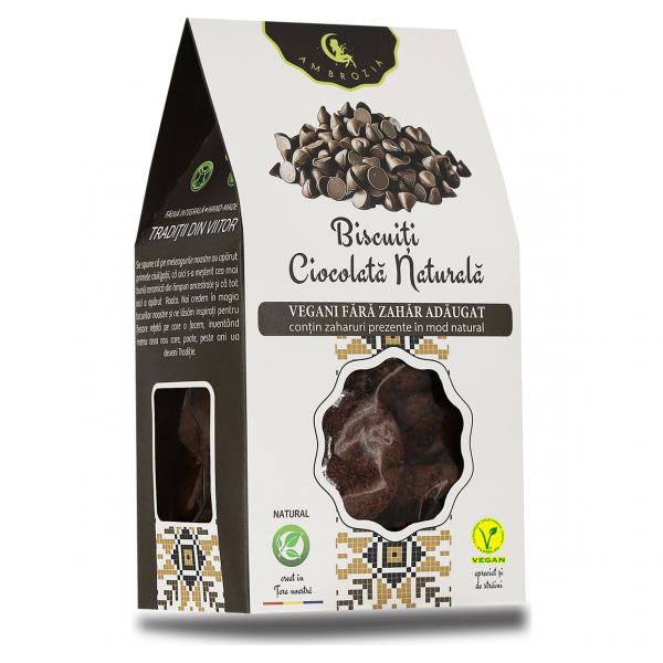 Biscuiți vegani Ciocolată Naturală, 150g 0
