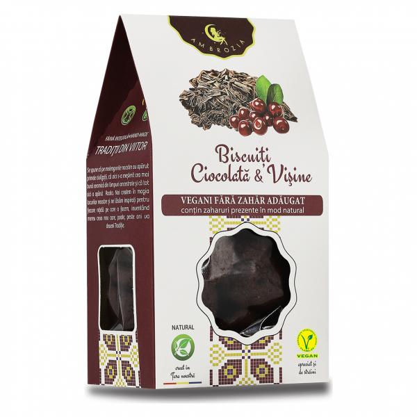 Biscuiți Vegani Ciocolată & Vișine, 150 g 0