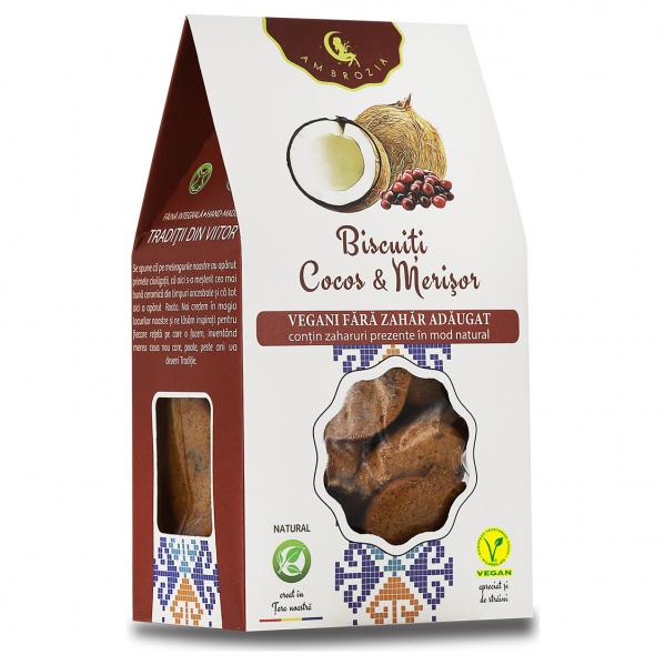 Biscuiți Vegani Cocos & Merisor, 150g 0