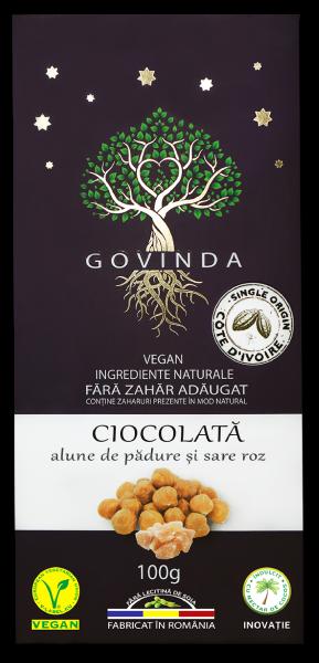 Ciocolată cu alune de pădure și sare roz – 100 g [0]