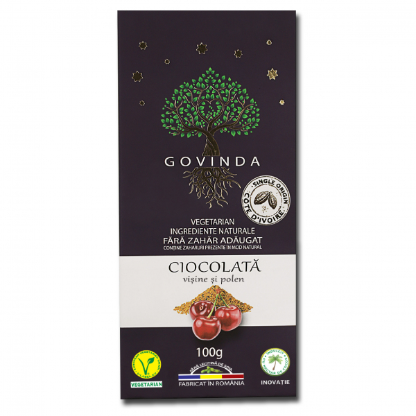 Ciocolată Vișine și Polen, 100 g 0