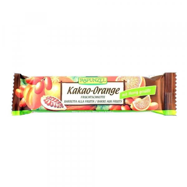 Batoane de fructe cu cacao si portocale, bio, 40g 0