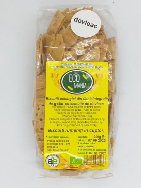 Biscuiti ecologici cu dovleac, 200 gr 0
