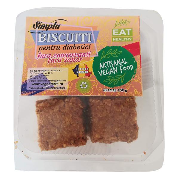 Biscuiti vegani pentru diabetici, fara conservanti si fara zahar 0