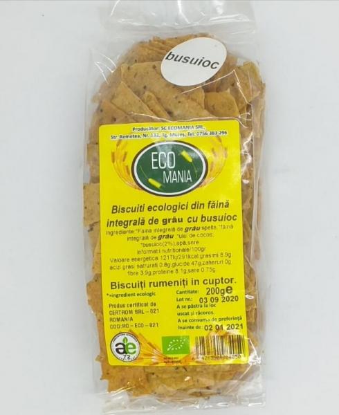 Biscuiti ecologici cu busuioc, 200 gr 0