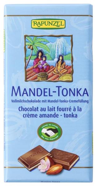 Ciocolata BIO cu crema de Migdale si Tonka, 100 gr 0
