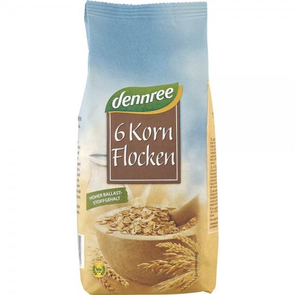 Fulgi din 6 cereale bio, 500g 0