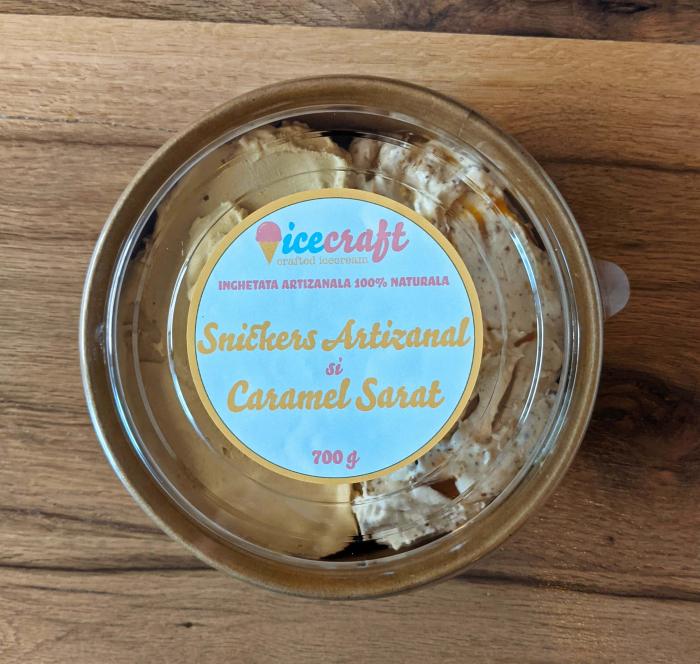 Inghetata Artizanala Snickers si Caramel Sarat, 100% naturala [1]