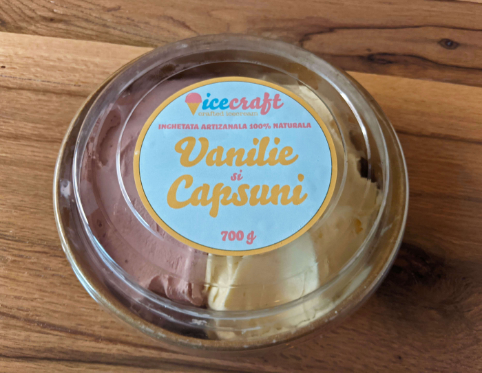 Inghetata Vanilie si Capsuni, 100% naturala [1]